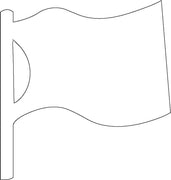 Sticky Shape Notepad - Flag - Creative Shapes Etc.
