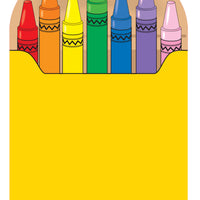 Large Notepad - Crayon Box - Creative Shapes Etc.