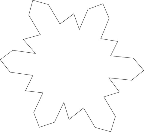 Picture of Sticky Shape Notepad - Snowflake