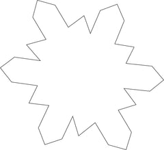 Sticky Shape Notepad - Snowflake