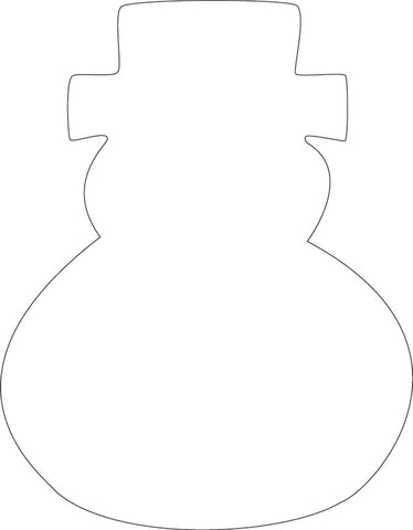 Picture of Sticky Shape Notepad - Snowman