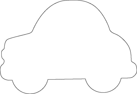 Picture of Sticky Shape Notepad - Car
