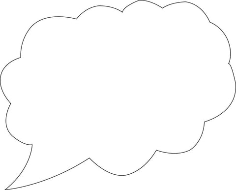 Picture of Sticky Shape Notepad - Think Cloud