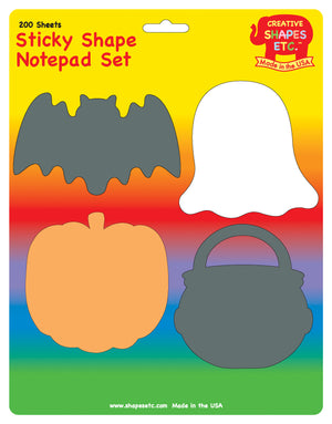 Sticky Notepad Set - Halloween - Creative Shapes Etc.