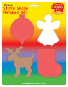 Sticky Notepad Set - Christmas - Creative Shapes Etc.