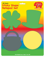 Sticky Notepad Set - St. Patrick's Day