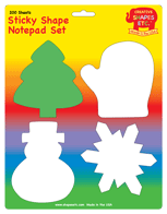 Sticky Notepad Set - Winter - Creative Shapes Etc.