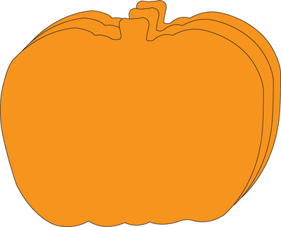 "Pumpkin Single Color Super Cut-Outs- 8"" x 10"" - Creative Shapes Etc."