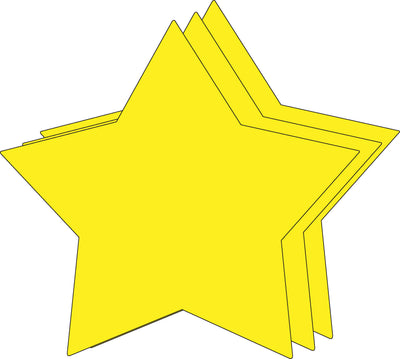 "8"" x 10"" Star Single Color Super Cut-Outs, 15 cut-outs in a pack for Star Inspired Classroom/ School Craft Projects."