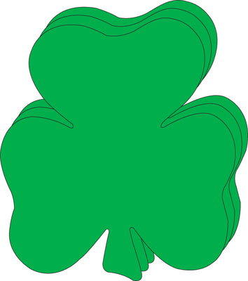 "8"" x 10"" Shamrock Single Color Super Cut-Outs, 15 Cut-Outs in a Pack for Spring, St. Patrick's Day Decorations Crafts, Kids' School Craft Projects"