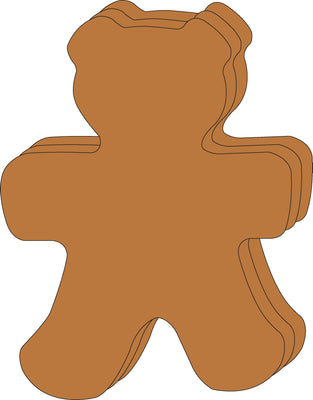 "Teddy Bear Single Color Super Cut-Outs- 8"" x 10"" - Creative Shapes Etc."