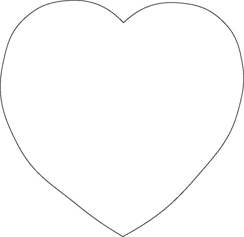 Picture of Sticky Shape Notepad - White Heart