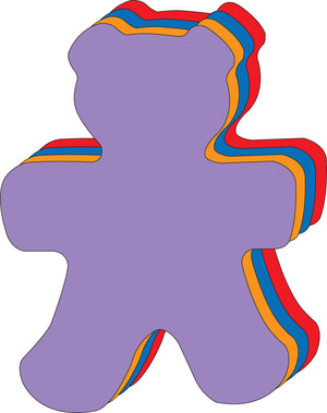 "Teddy Bear Assorted Color Super Cut-Outs- 8"" x 10"" - Creative Shapes Etc."
