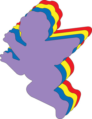 "Cupid Assorted Color Super Cut-Outs- 8"" x 10"" - Creative Shapes Etc."