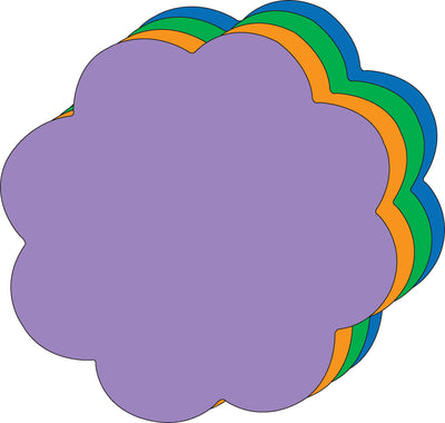 "8"" x 10"" Flower Assorted Color Super Cut-Outs, 15 Cut-Outs in a Pack for Spring, Summer Flower Garden Kids' School Craft Projects"