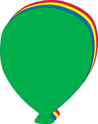 Super Cut-Outs - Assorted Color Balloon