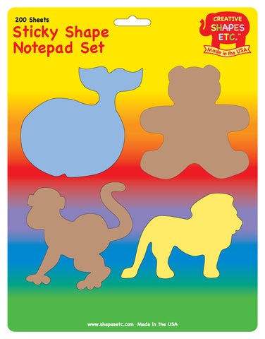 Picture of Sticky Notepad Set - Zoo