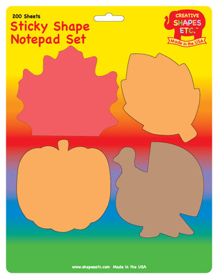 Sticky Notepad Set - Thanksgiving - Creative Shapes Etc.