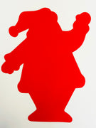 "Santa Single Color Super Cut-Outs- 8"" x 10"""