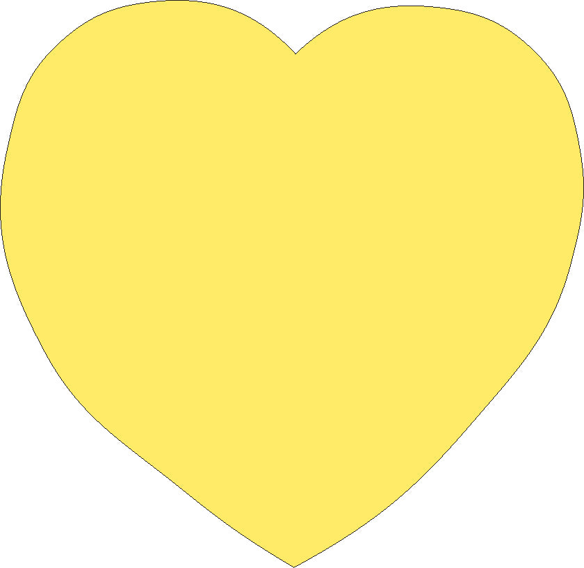 Sticky Shape Notepad - Yellow Heart - Creative Shapes Etc.