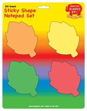 Sticky Notepad Set - Fall Leaves - Creative Shapes Etc.