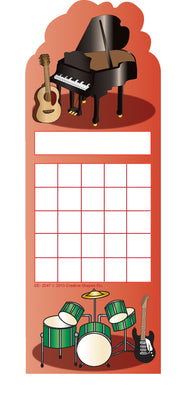 Personal Incentive Chart - Musical Instruments - Creative Shapes Etc.