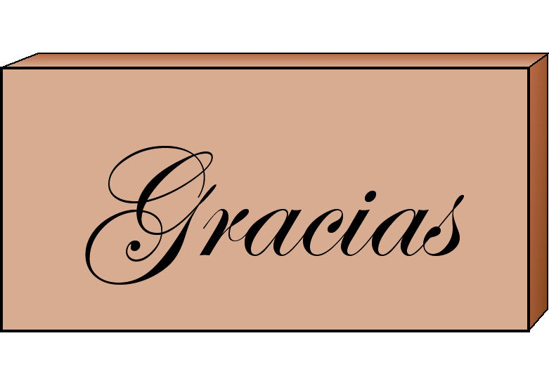 Teacher's Stamp Spanish - Gracias (Thank You) - Creative Shapes Etc.