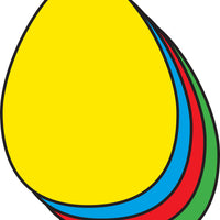 Small Assorted Color Creative Foam Cut-Outs - Egg - Creative Shapes Etc.