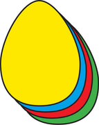"Egg Assorted Color Creative Cut-Outs- 3"" - Creative Shapes Etc."