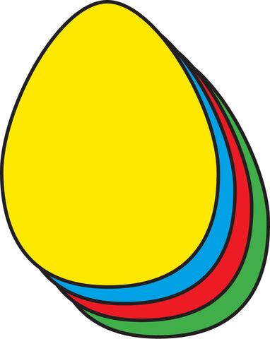 Picture of Small Assorted Color Creative Cut-Out - Egg