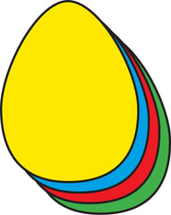 Small Assorted Color Creative Foam Cut-Outs - Egg