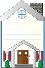 Picture of Mini Notepad - House