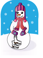 Picture of Mini Notepad - Snow Woman