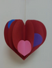 Heart Large Tri-Color Creative Cut-Outs- 5.5""