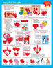 Heart Assorted Color Creative Cut-Outs- 3""