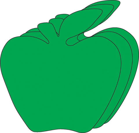 Picture of Small Single Color Creative Foam Cut-Outs - Green Apple