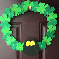 Large Assorted Color Creative Foam Cut-Outs - Assorted Green Four Leaf Clover - Creative Shapes Etc.