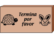 Teacher's Stamp Spanish - Termina por favor (Please Finish)