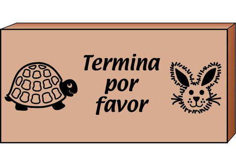 Picture of Teacher's Stamp Spanish - Termina por favor (Please Finish)