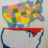 "U.S. Practice Map Double Combo Pack- 9"" x 19"""