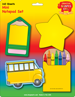 Picture of Mini Notepad Set - School