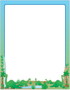 Picture of Designer Paper - Dinosaurs (50 Sheet Package)