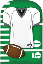 Large Notepad - Football Jersey