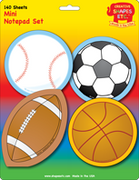 Mini Notepad Set - Sports - Creative Shapes Etc.