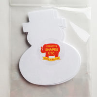 Large Single Color Cut-Out - Snowman - Creative Shapes Etc.