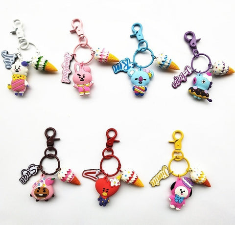 Cute BT21 Ice Cream Keychain