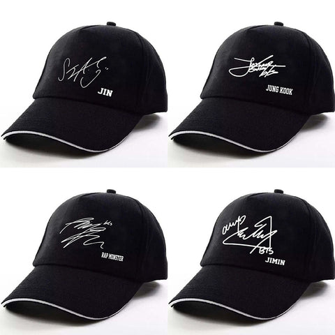 BTS Signature Adjustable Baseball Cap