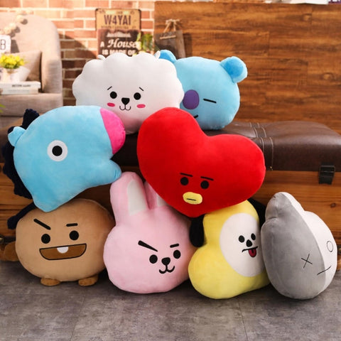 Soft and Plushy BT21 Throw Pillow