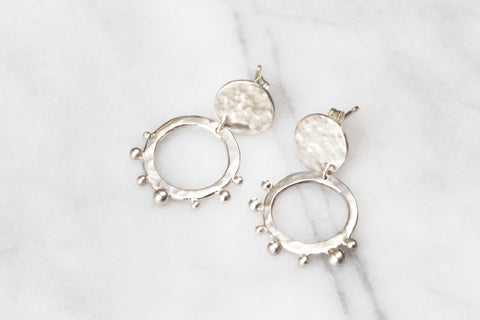 Cosmic Disc Hoop Earrings