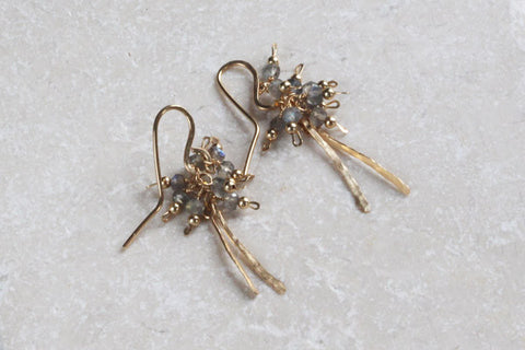 Long Fringe Cluster Earrings